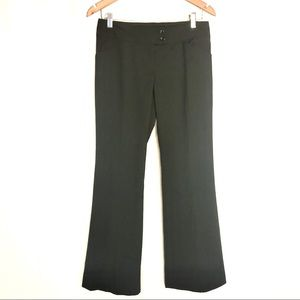 The Limited 4 drew fit black pinstriped trousers